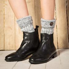 Womens Crochet Boot Cuffs Knit Toppers Boot Socks Leg Warmers Winter Socks XS