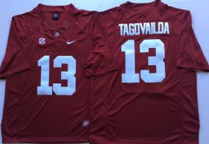Men's Alabama Crimson Tide Red #13 TAGOVAILOA Stiched Custom Jersey