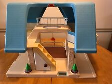 Little Tikes Vintage Blue Roof Dollhouse Loaded with 50+accessories, Mat,van,dog