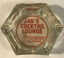 VINTAGE JANS COCKTAIL LOUNGE HILO BIG ISLAND ACL HAWAII ASHTRAY