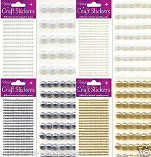 Self Adhesive Pearl Gem Stickers - Craft Eleganza Embellishments 3mm 4mm 6mm