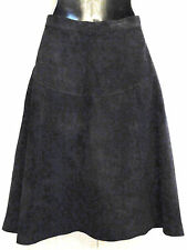 J Christopher Pig Suede Skirt size 4 Silky Black Fully Lined A Line Western Yoke