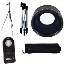 "HD FISHEYE MACRO LENS + 50"" TRIPOD + REMOTE FOR CANON EOS REBEL 6D 60D 7D 70D T5"