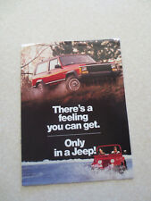 1980s Jeep Cherokee & J-20 & & Wagoneer advertising booklet