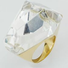 H. Stern Big Quartz Ring 18k Yellow Gold Size 5