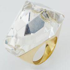 H. Stern Big Quartz Ring 18k Yellow Gold Size 5