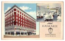 1950 Hotel Kankakee, Kankakee, IL Postcard