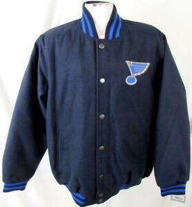 St Louis Blues Men M or L Snap Front Wool Blend Jacket MSRP $139.99 ASLB 26