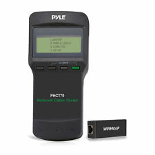 Pyle PHCT70 Network Cable Tester for Testing UTP, STP, BNC Coaxial & Test Leads