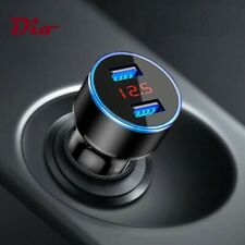 Quick Car Charger Fast Charging LED 24W 4.8A Dual USB Port for Samsung iPhone