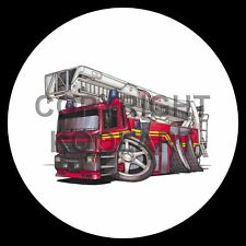 Koolart 4x4 4 x 4 Spare Wheel Graphic Simon Fire Engine Sticker 649
