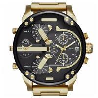 Montre Homme Quartz Bracelet luxe en acier Inoxydable Cadran Analogique Sport