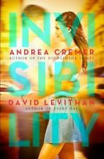 Invisibility by Andrea Cremer and David Levithan (2013, Hardcover) - New -