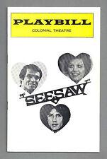 "Lucie Arnaz ""SEESAW"" Tommy Tune / Michael Bennett / Cy Coleman 1974 Playbill"