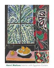 MODERN ART PRINT Interior with Egyptian Curtain, 1948 Henri Matisse Poster 22x28