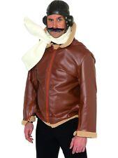 Unisex Costume Carnevale CAPPELLO AVIATORE PILOTA Chubby Biggles Smiffy's 33437