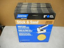 """135 Norton 8"""" Stick & Sand Discs, 45 each of 80; 120; and 180 Grits. SHIPS FREE!"""
