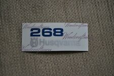 non-OEM Husqvarna 268 XP TOP COVER sticker decal replace 503662810