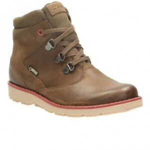 Clarks Day Hi Gtx Jnr Brown Leather Kid  Boys Boots Size UK 3 F