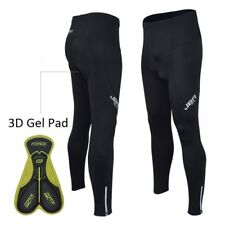 Mens Padded Cycling Leggingns Tight Compression Trousers  Long Pants