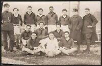 WW1 FOOTBALL TEAM MILITARY REGIMENT ARMY ANTIQUE RPPC PHOTO POSTCARD