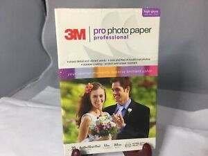 3M PRO Photo Paper Package / 20 Sheets 4X6 High Gloss Sealed Instant Dry Ink Jet