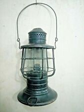 Old Vintage Original Brass Dietz WWI Ship Branded Kerosene Oil Lamp Lantern
