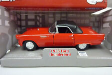 Welly 1:38? Nº: 42366 1955 FORD THUNDERBIRD ROUGE dans neuf dans sa boîte (a997)