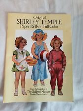 Shirley Temple Paper Dolls Collection, 3 Books Never Used Excellent Condition
