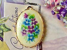 Forget me Nots Pendant,Vintage Rose Pendant,Glass Pendant,Violets Pendant,#997NS
