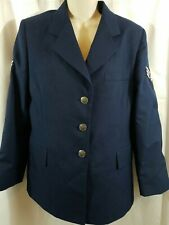 US United States USAF Jacket Coat Air Force Blue Uniform Women's Size 12WL