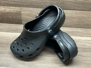 CROCS Classic Black Slip On CLOGS UNISEX Women's Size 8  Mens Size 6
