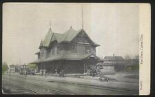 POSTCARD GALION OH/OHIO ERIE RAILROAD DEPOT TRAIN STATION 1907