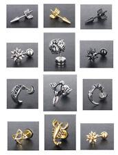 Screw Back (pierced) Handmade Stud Costume Earrings