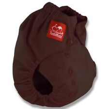 TushMate Reusable Cloth Diaper one side fits all 8-40 lbs Snap Brown
