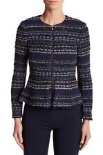 NWOT Rebecca Taylor Lurex Metallic Tweed Jacket Size 4 Retail $575