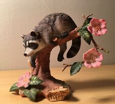 Vintage Collectible 1990 Lenox Twilight Mischief Raccoon Figurine