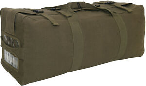 Olive Drab Canvas Gen II Duffle Bag 2 Strap Backpack Tactical Army Type Duffel