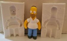 3D HOMER SIMPSON SILICONE MOULD FOR CAKE TOPPERS, CHOCOLATE, CLAY ETC