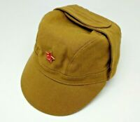 Cap Afganka + Red Star  Authentic  1986  USSR Soviet and Russian Army Field