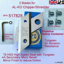 More details for alko garden shredder t8 high speed steel blades h3000&3200 oem517828, 325967