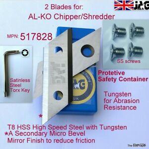 ALKO Garden Shredder T8 High Speed Steel Blades H3000&3200 OEM517828, 325967