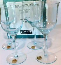 New listing Royal Prestige Set of 4 Light Blue Handmade Crystal Cups