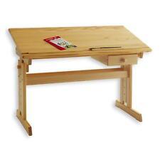 Bureau enfant écolier junior hauteur réglable table dessin inclinable pin nature