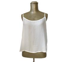 Women's Junior's Papaya White Lightweight Sheer Tank Top Crop Cropped Top M