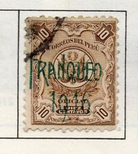 Peru 1905-21 Early Issue Fine Used 10c. Optd 182358