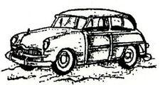 Old Vintage CAR Winter Wood Mounted Rubber Stamp NORTHWOODS C10353 New