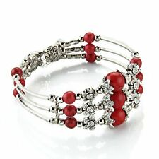 Tibet silver turquoise red Bangle Bracelet LW