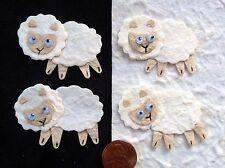 5 Lambs lamb Sheep Handmade Mulberry Paper Easter baby nursery Farm Cards