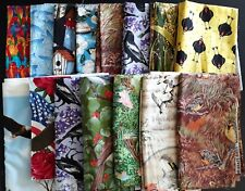 Quilting Fabric,  Bird-Themed Designs, Various Sizes, 11+ Yards Total